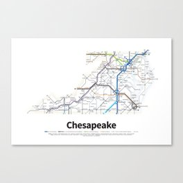Highways of the USA – Chesapeake Canvas Print