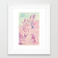 mermaids Framed Art Prints featuring Mermaids by malipi