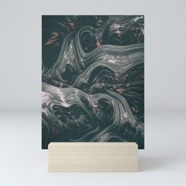 turne II. Abstract Charcoal Melt Mini Art Print