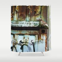 plain Shower Curtains featuring Hiding In Plain Sight by PRE Media