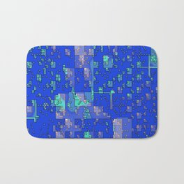 Abstract Blue Cityscape Bath Mat