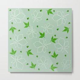 Elegant Fall Leaves Pattern Metal Print