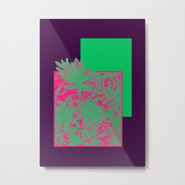 Neon Greenery #society6 #succulent Metal Print