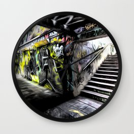 London Graffiti Art Wall Clock
