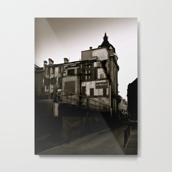 Surrealist Urban City. Metal Print