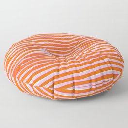 electric zebra stripes Floor Pillow