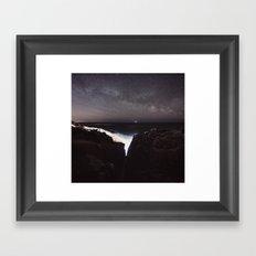 Split Infinity Framed Art Print