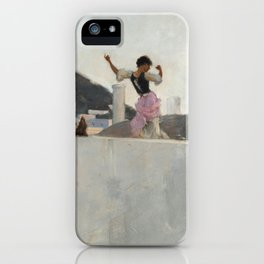 Capri Girl on a Rooftop - John Singer Sargent iPhone Case