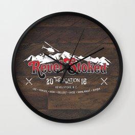 Revel Stoked Wall Clock