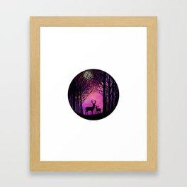 Purple Dreamers Framed Art Print