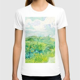 Green Wheat Fields, Auvers by Vincent Van Gogh (1890) T-shirt
