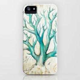 Blue Coral No. 2 iPhone Case