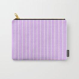 White Stripe + Purple Carry-All Pouch