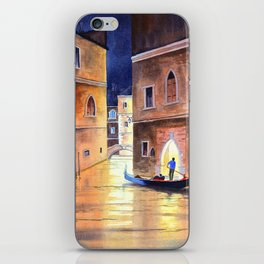 Venice Italy Evening Gondola Ride iPhone Skin