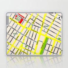 NEW YORK map design - SOHO area Laptop & iPad Skin