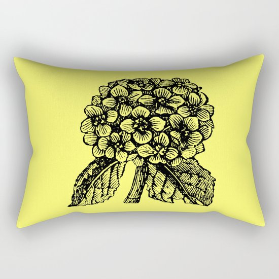 Yellow Hydrangea Rectangular Pillow