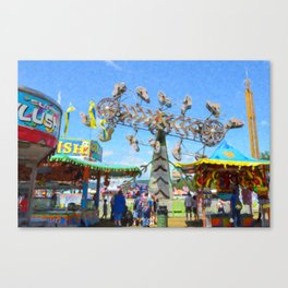 carnival  zipper 1 Canvas Print