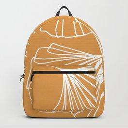 Ginkgo Leaves Minimal Line Art Yellow Backpack