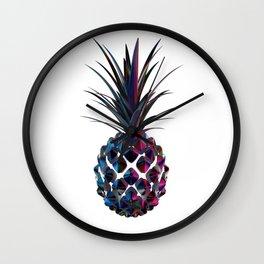 Chrome Pineapple Wall Clock