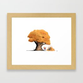 Fun in the Fall Framed Art Print
