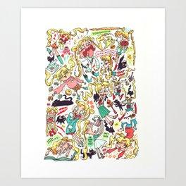 "Sailor Moon- ""Doodle Moon"" Art Print"