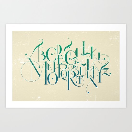 Maya's Alphabet (alt color) Art Print