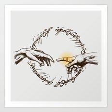God of Ring Art Print