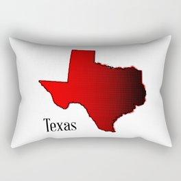 Texas Halftone Rectangular Pillow