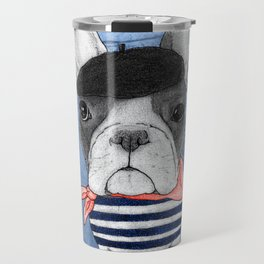 Frenchie with Arc de Triomphe Travel Mug