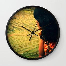 Lookin' Back Wall Clock