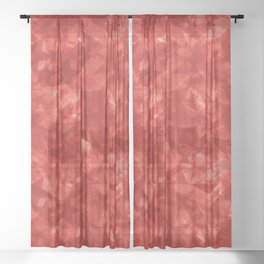 Dark pastel variegated red stars in the projection. Sheer Curtain
