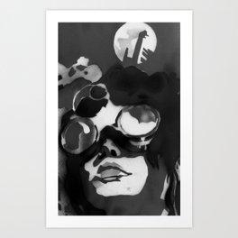 Coal miner lady II Art Print