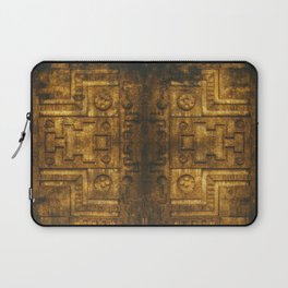 Architecture Wall of Aztec Ancestary Laptop Sleeve