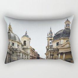Piazza Del Popolo Rome Rectangular Pillow
