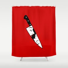 Noir Knife Shower Curtain