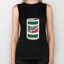"""Pop"" Art, White Background Biker Tank"