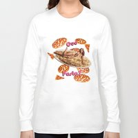 pasta Long Sleeve T-shirts featuring Que Pasta? by themattpeterson