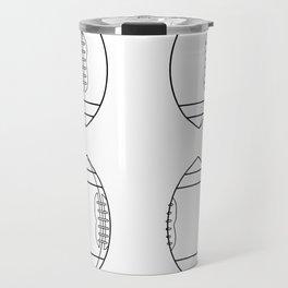 American Football Ball Spinning Sequence Drawing Travel Mug
