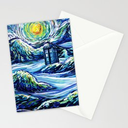 Tardis Lost In The Middle Wave Stationery Cards