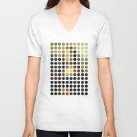 mona lisa V-neck T-shirts featuring Mona Lisa by Gary Andrew Clarke