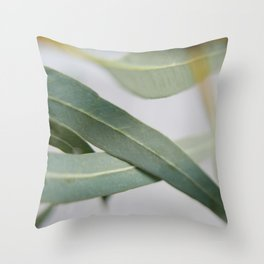 Eucalyptus leaves in the wind Throw Pillow