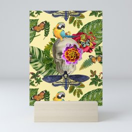 TROPICAL SKULL Mini Art Print