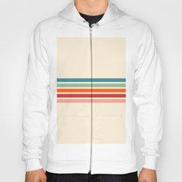 Minimal Abstract Retro Stripes 70s Style - Balangan Hoody