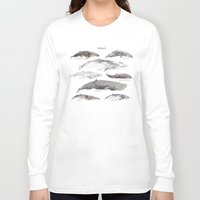 whales Long Sleeve T-shirts featuring Whales by BySamantha | Samantha Ranlet
