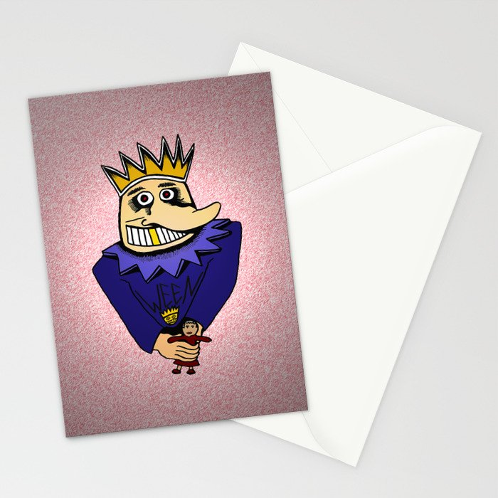 The Boognish wielding a voodoo lady doll Stationery Cards