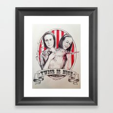 Tattler Twins  Framed Art Print
