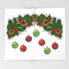 Christmas decoration Throw Blanket
