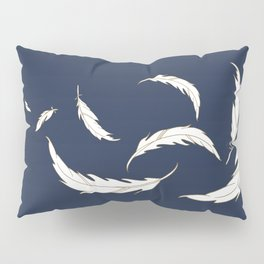 Come fly with me navy illustration Pillow Sham