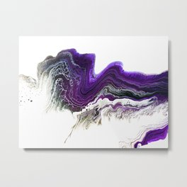 Amethyst Wave Metal Print