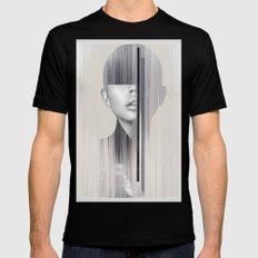 portrait(geometric) Black MEDIUM Mens Fitted Tee